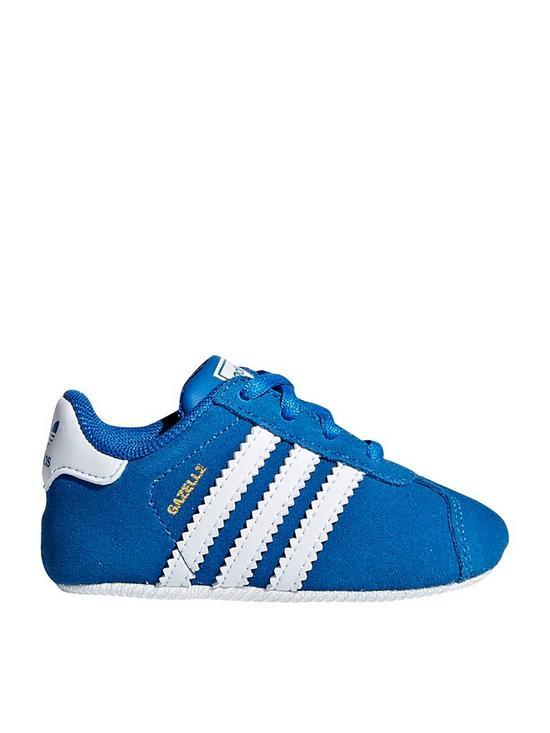 39092467aa27 adidas Originals Gazelle Crib Trainer - Blue White