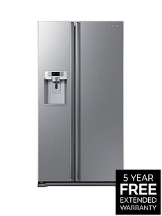 Samsung RSG5UUSL1/XEU 90cm American-Style Frost Free Fridge Freezer with Plumbed Ice and Water Dispenser - Stainless Steel