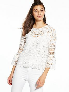 river-island-star-lace-top