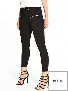 ri-petite-zip-detail-ponte-trousers