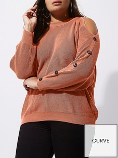 ri-plus-cold-shoulder-button-jumper