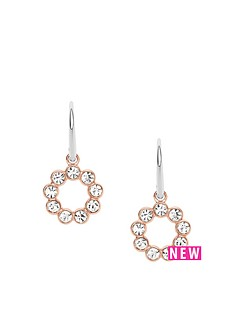 fossil-fossil-stainless-steel-rose-gold-tone-glitz-ring-drop-earrings