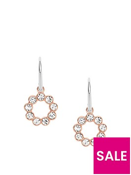 fossil-stainless-steel-rose-gold-tone-glitz-ring-drop-earrings