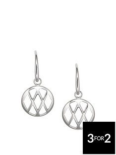 fossil-fossil-stainless-steel-signature-pattern-disc-drop-earrings