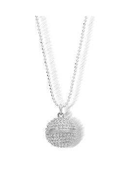chlobo-sterling-silver-diamond-cut-chain-with-dreamball-pendant-l1