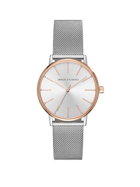 armani-exchange-lola-silver-and-rose-gold-stainless-steel-mesh-bracelet-ladies-watch