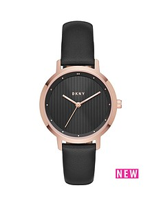 dkny-dkny-modernist-black-leather-strap-ladies-watch