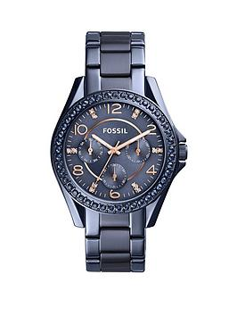 fossil-fossil-riley-blue-ip-stainless-steel-bracelet-ladies-watch