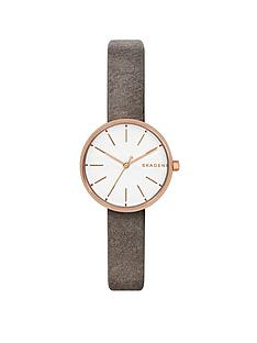 skagen-skagen-signatur-grey-leather-strap-ladies-watch