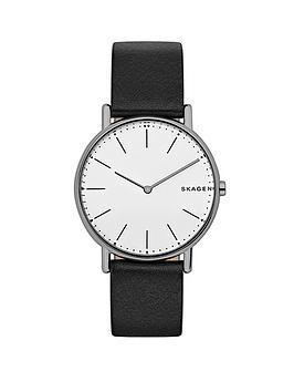 skagen-skagen-signatur-slim-titanium-case-black-leather-strap-men039s-watch