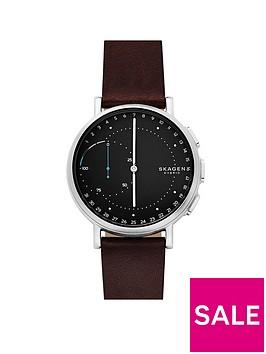 skagen-skagen-signatur-connected-hybrid-brown-leather-strap-men039s-smartwatch