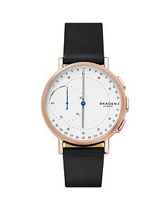 skagen-skagen-signatur-connected-hybrid-black-leather-strap-men039s-smartwatch