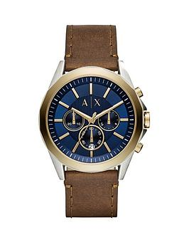 armani-exchange-drexler-gold-tone-case-brown-leather-strap-mens-watch