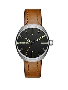 diesel-diesel-klutch-brown-matte-leather-strap-men039s-watch