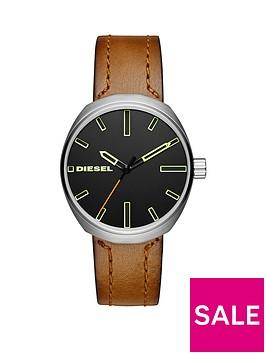 diesel-diesel-klutch-brown-matte-leather-strap-men039s-watch