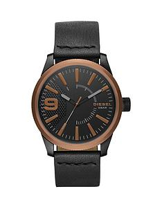 diesel-diesel-rasp-copper-ip-black-leather-strap-men039s-watch