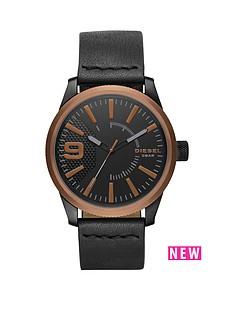 diesel-diesel-rasp-copper-ip-black-leather-strap-men039s-watch