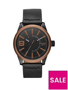diesel-rasp-copper-ip-black-leather-strap-mens-watch