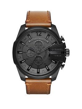 diesel-diesel-mega-chief-tan-leather-strap-mens-watch