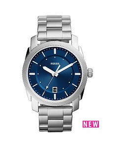 fossil-fossil-machine-blue-dial-stainless-steel-bracelet-men039s-watch