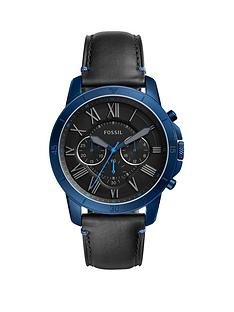 fossil-fossil-grant-black-leather-strap-men039s-watch