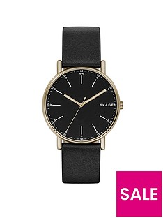 skagen-skagen-signatur-black-leather-strap-men039s-watch