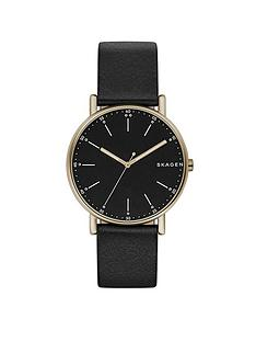 skagen-skagen-signatur-black-leather-strap-mens-watch