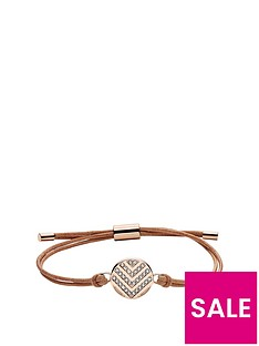 fossil-stainless-steel-and-leather-rose-gold-tone-chevron-disc-ladies-wrap-bracelet