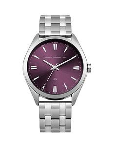 french-connection-raspberry-dial-stainless-steel-bracelet-ladies-watch