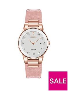 citizen-citizen-eco-drive-axiom-diamond-pink-leather-strap-ladies-watch