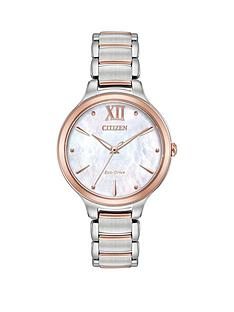 citizen-citizen-eco-drive-l-collection-rose-gold-two-tone-stainless-steel-bracelet-ladies-watch