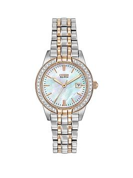 citizen-citizen-eco-drive-silhouette-crystal-rose-gold-two-tone-stainless-steel-bracelet-ladies-watch