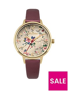 cath-kidston-cath-kidston-trailing-rose-deep-red-metallic-leather-strap-ladies-watch