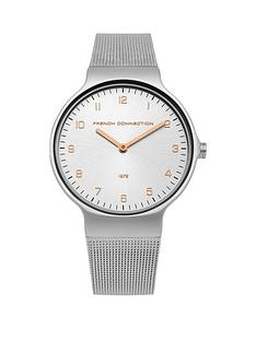 french-connection-french-connection-rose-gold-grey-dial-mesh-strap-ladies-watch