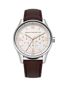 french-connection-white-chronograph-dial-with-rose-gold-detailingnbspbrown-leather-strap-mens-watch
