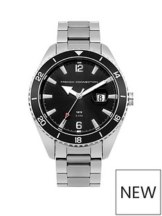 french-connection-french-connection-black-dial-date-function-black-bezel-stainless-steel-mens-watch