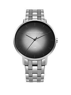 french-connection-black-ombrenbspdial-silver-stainless-steel-bracelet-mensnbspwatch