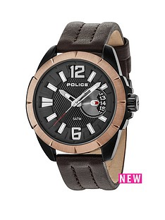 police-police-brown-leather-watch-with-black-dial