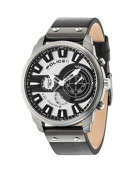 police-police-black-leather-watch-with-white-dial