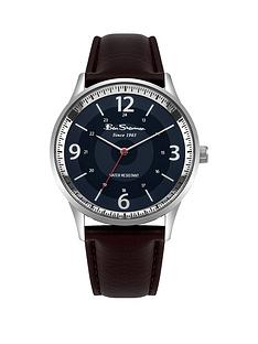 ben-sherman-ben-sherman-blue-dial-brown-leather-look-strap-mens-watch