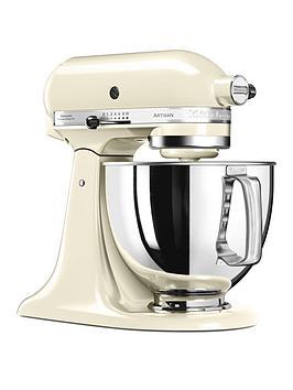 kitchenaid-125-artisan-48l-stand-mixer-almond-cream-ndash-free-pasta-attachment-worth-pound129-for-first-100-orders