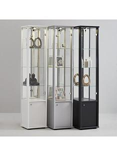 neptune-single-glass-door-mirrored-back-display-unit-with-light-black