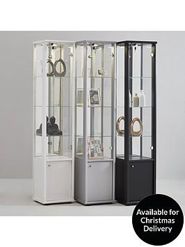 neptune-single-glass-door-mirrored-back-display-unit-with-light-black