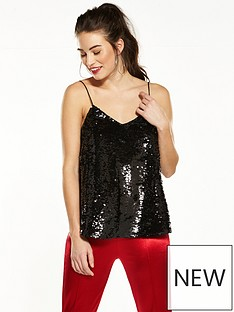 v-by-very-sequin-swing-cami
