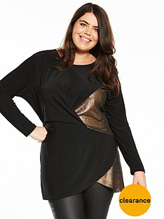 v-by-very-curve-metallic-knot-tunic