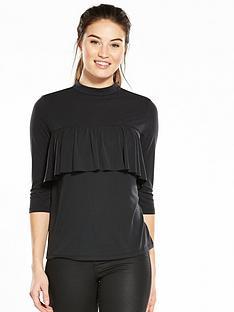 v-by-very-frill-yoke-cupro-top-black