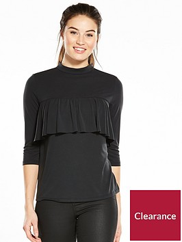 v-by-very-frill-yoke-cupro-top-black