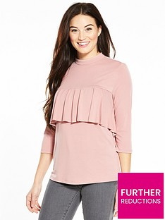 v-by-very-frill-yoke-cupro-top