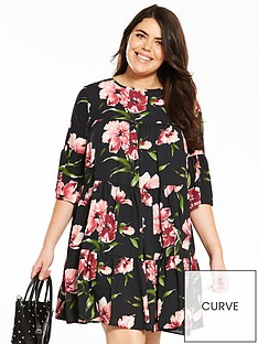v-by-very-curve-printed-tea-dress