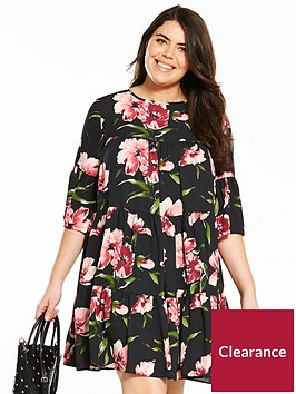 v-by-very-curve-printed-tea-dress